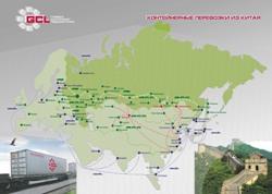 Карта путей грузоперевозок из китая